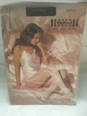Vintage Wolford Satin Touch Size S Cocoa Shade Tights • 2£