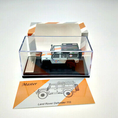 Land Rover Defender 110 Gulf With Luggage Diecast Model Toys Gifts Master 1:64 • 24£