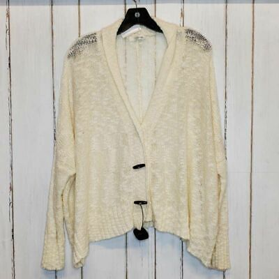 $35.99 • Buy Millau Womens Cardigan Sweater Beige Long Sleeve V Neck Toggle Buttons L