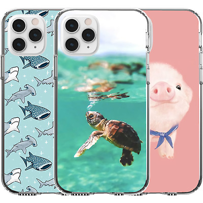 AU16.95 • Buy Silicone Cover Case Cute Animal Pattern Turtle Swim Piget Shark Baby Cute Art
