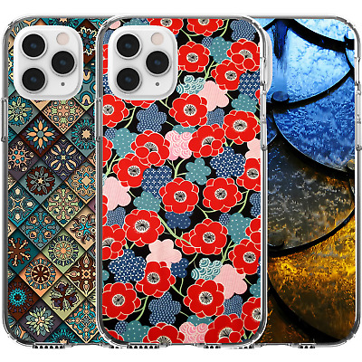 AU16.95 • Buy Silicone Cover Case Pattern Abstract Flower Moroccan Tile Armour Cute Red Floral