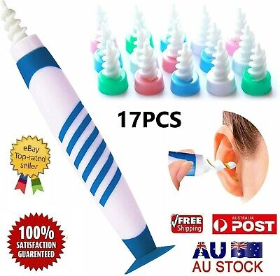 AU15.49 • Buy 17pc Ear Wax Removal Tool Ear Wax Cleaner Q-Grips Ear Wax Remover With 16Tips AU