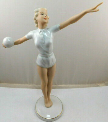 $ CDN63.26 • Buy Vintage Wallendorf Germany Women's Olympic Volleyball Player Porcelain Figurine