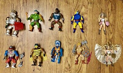 $70 • Buy Lot Of 10 Vintage He-Man & She-Ra Heroes W/ Weapons, Armor, Accessories MOTU