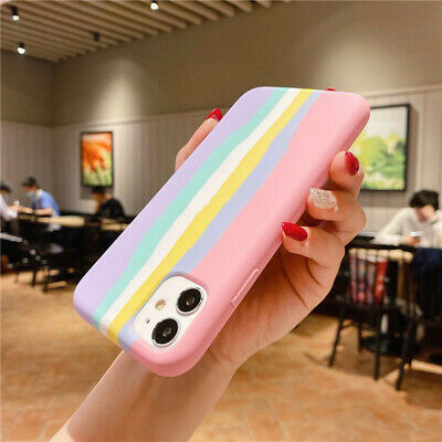 AU12.59 • Buy Silicone Phone Case For IPhone 12/11 Pro MAX 11 Pro X XS Rainbow Gradient Cover