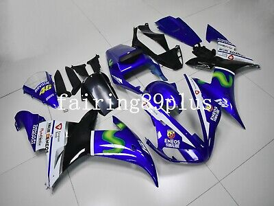 $519 • Buy Blue White Black MOVISTAR ABS Injection Fairing Kit Fit For 2002 2003 YZF R1