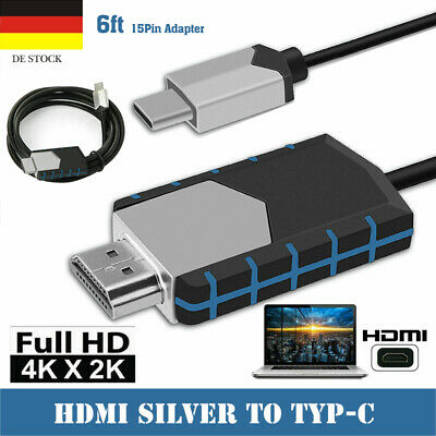 AU14.48 • Buy 1080P MHL Type-C To HDMI HDTV Adapter Converter Cable For Android Smart Phone