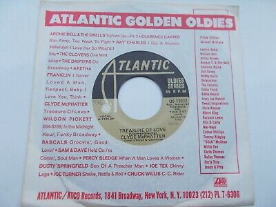 £4.99 • Buy Clyde Mcphatter Treasure Of Love / A Lover's Question Us 45 Atlantic