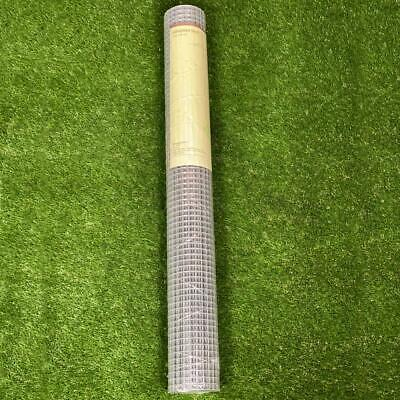 Galvanised Wire Square Welded Mesh Garden Fencing Poultry 13mm 0.9 X 6m • 17.95£