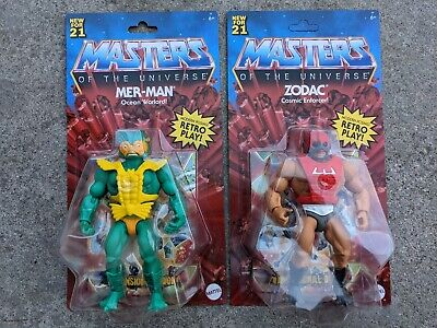$59.99 • Buy 2021 Masters Of The Universe Origins MER-MAN And Zodiac