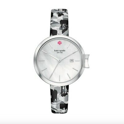 $ CDN57.40 • Buy Kate Spade Leather Band Bow Silver Leather Watch Round Face