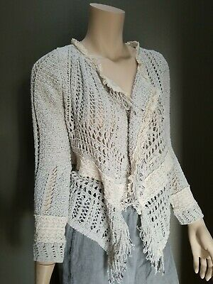$ CDN37.74 • Buy (L) Anthropologie Knitted & Knotted Cardigan Open Sweater Women EUC