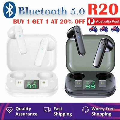 AU18.19 • Buy TWS Wireless Earbuds Headset Earphones Bluetooth 5.0 Stereo Headphones LED AU