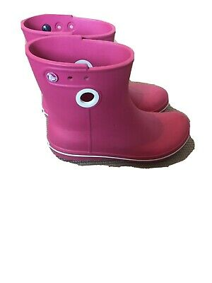 Pink Crocs Short Wellie Boots Size 6 ( Adult ) • 12£