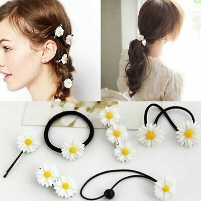 $ CDN3.73 • Buy Headwear Accessories Mini Daisy Hair Clip Bobby Pins Elastic Rope Barrettes