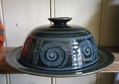 Lotus Pottery Cheese Bell Or Dome Spiral Pattern Stoke Gabriel • 10£