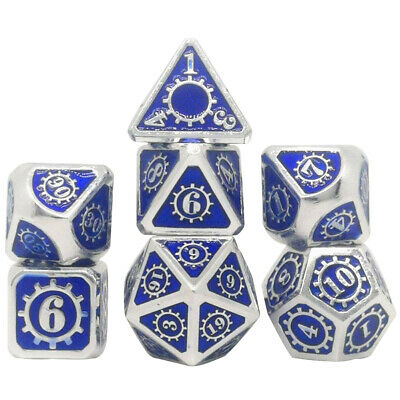 AU26.25 • Buy 7pcs Board Game Party Tabletop For DnD Polyhedral Dice Set Zinc Alloy Props Rpg