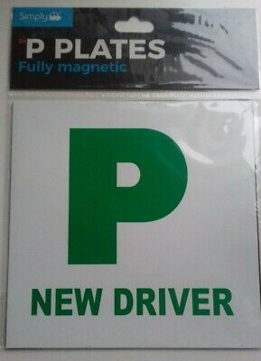 Brand New Simply 2 X Fully Extra Strong Magnetic Car P Plates New Driver • 0.50£