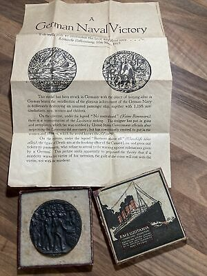 RMS The Lusitania (German) Medal Boxed • 9.50£
