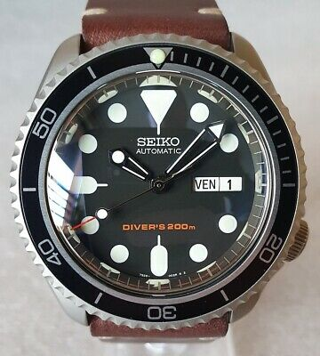 $ CDN706.41 • Buy SEIKO SKX007 Mod  The Vintage Style V3  NH36A Leather Strap New