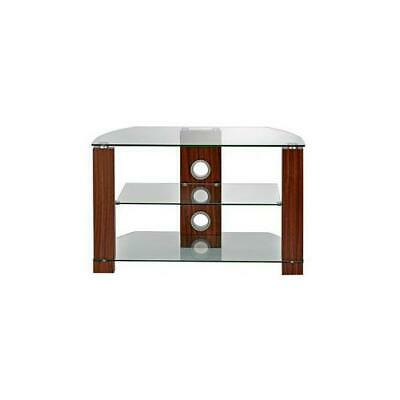 AVS-L630-1050 / 3WC Ttap Group Clear Glass And Walnut Tv Stand With 3 Shelves • 111.09£