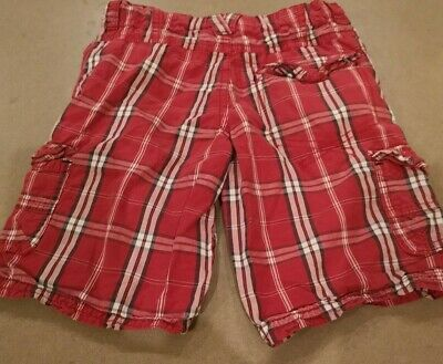 Tu Boys  Red Checked Shorts 3-4 Years • 2£