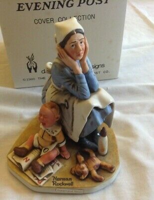 $ CDN31.91 • Buy Vintage Norman Rockwell  Exasperated Nannie   1980 Figurine By Dave Grossman