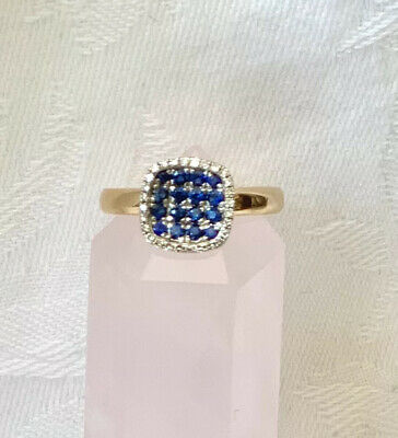 AU800 • Buy 18CT Gold Sapphire And Diamond Ring