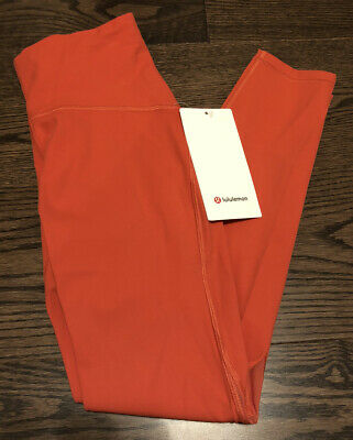 "$ CDN47.21 • Buy NWT Lululemon Size 8 Train Times HR Tight 25"" Pant Leggings PPYC Orange"