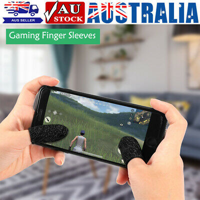 AU12.99 • Buy 2/10/20PCS Mobile Finger Sleeve Touch Screen Game Controller Sweatproof Gloves
