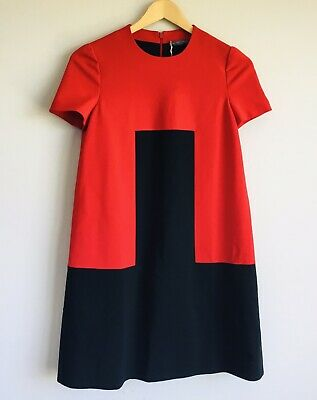 AU175 • Buy Alexander McQueen Red & Black Short Sleeve Dress Size 38 Brand New With Tags