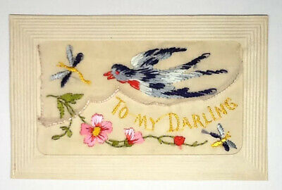 Ww1 Silk Embroidered Postcard - To My Darling  • 6.99£
