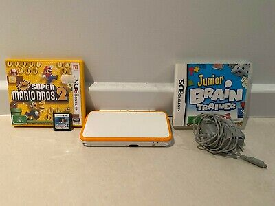 AU180 • Buy Nintendo 2DS XL White/Orange Console With Games And Charger