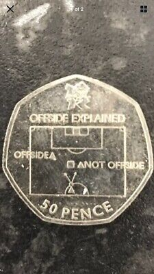 Olympic 50p Coin FOOTBALL Offside Rule. 2011 • 10.50£