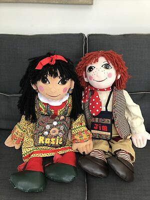 Large Rosie And Jim Ragdolls 30  Dolls Complete With All Accessories • 70£