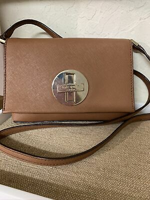 $ CDN6.38 • Buy Kate Spade New York Brown Grain Leather Crossbody Purse