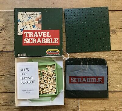 Vintage Travel Scrabble Game Spears With Clip In Titles - Complete • 10£