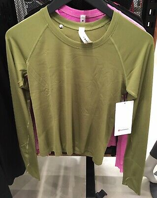 $ CDN149.99 • Buy Lululemon Swiftly Tech Long Sleeve 2.0 RACE Length Bronze Green 6 10 12