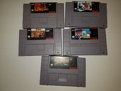 $ CDN17.19 • Buy Super Nintendo SNES Game Lot - 5 Games , Marion Paint,  Lion King , The Jungle
