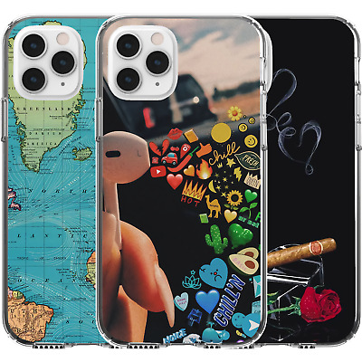£9.22 • Buy Silicone Cover Case Pattern Abstract World Map Colourful Music Rose Heart Boss