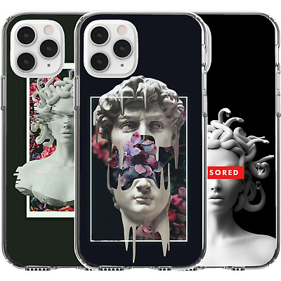 AU16.95 • Buy Silicone Cover Case Pattern Abstract Girl Statue Medusa Censored Flowers Snakes