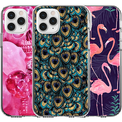 AU16.95 • Buy Silicone Cover Case Pattern Abstract Girl Pink Skull Flamingo Peacock Camo Art