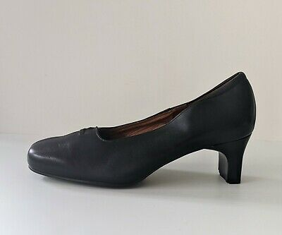 AU32 • Buy KUMFS (Ziera) Black Leather Work Corporate Court Shoes Comfort - NEW - Sz 9W