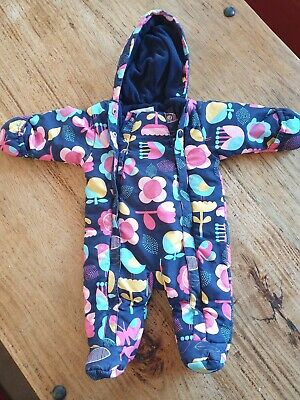Baby Girl Snowsuit Pramsuit All In One 0-3 Months Marks & Spencer • 7.50£