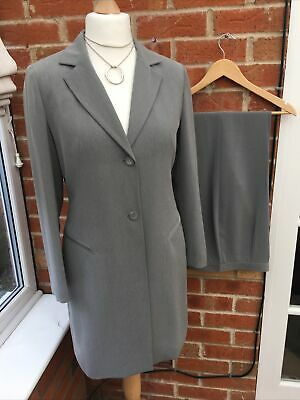 Ladies Next Size 12 Grey Jacket & Size 14 Straight Leg Trousers Suit Immaculate • 14.99£