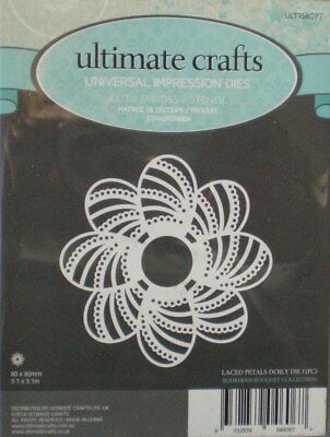 Ultimate Crafts ~ Bohemian Collection ~ LACED PETALS DOILY ~  Die ~ NEW   • 1.99£