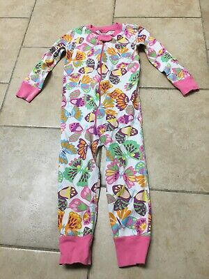 $12.90 • Buy Hanna Andersson Floral Butterfly Organic One Piece Pajamas, Size 90 (3)