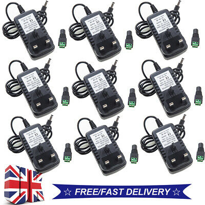 1-10 12V 3A AC/DC UK PLUG Power Supply Adapter Charger For LED Strip CCTV Camera • 5.56£