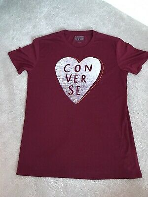 Ladies Heart Converse Tshirt Size Small • 2£