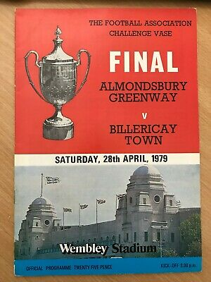 28/04/1979 - FA Challenge Vase Final - Almondsbury Greenway V Billericay Town  • 2.20£